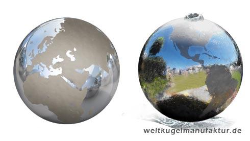 Mögliches Design /Anwendungsbeispiel. Endprodukt Kann Vom Bild Abweichen.  Nah Ausschnitt Des über Die Kugel Laufenden Wassers: